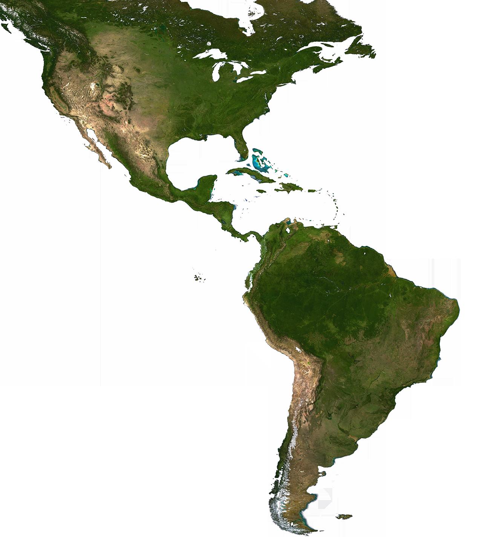 Verbreitungskarte der Kakteen-Gattungen
